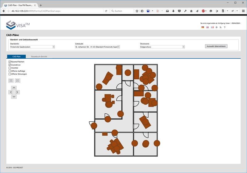 cafm software f r architekten und ingenieure gis project. Black Bedroom Furniture Sets. Home Design Ideas